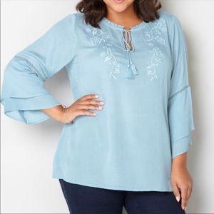 Tops - Cute blue spring blouse 22/24